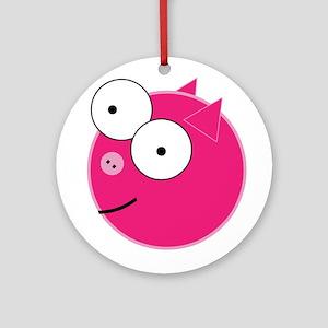 Crazy Pig Ornament (Round)