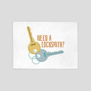 Need A Locksmith? 5'x7'Area Rug