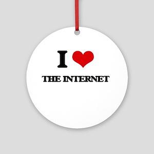 I Love The Internet Ornament (Round)