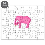 Pink Elephant With a Popsicle Puzzle