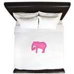 Pink Elephant With a Popsicle King Duvet