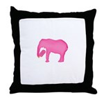 Pink Elephant With a Popsicle Throw Pillow