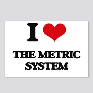 I Love The Metric System Postcards (Package of 8)