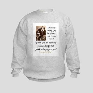 OSCAR WILDE QUOTE Kids Sweatshirt