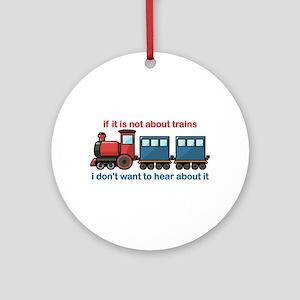 Train Talk Ornament (Round)