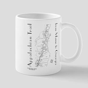Appalachian Trail Map Mugs