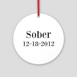 Personalizable Sober Ornament (Round)