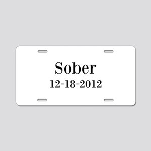 Personalizable Sober Aluminum License Plate