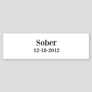 Personalizable Sober Bumper Sticker
