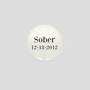 Personalizable Sober Mini Button