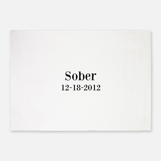 Personalizable Sober 5'x7'Area Rug