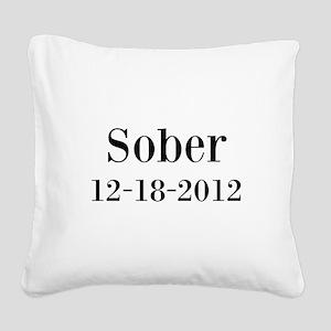 Personalizable Sober Square Canvas Pillow