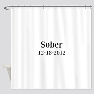 Personalizable Sober Shower Curtain