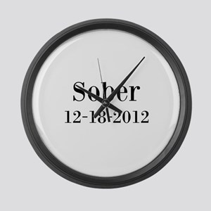 Personalizable Sober Large Wall Clock