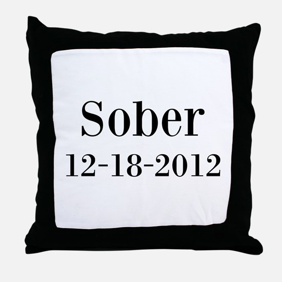 Personalizable Sober Throw Pillow