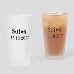 Personalizable Sober Drinking Glass