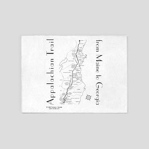 Appalachian Trail Map 5'x7'Area Rug
