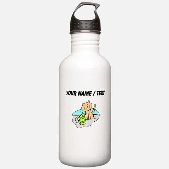 Custom Cat And Phone Water Bottle