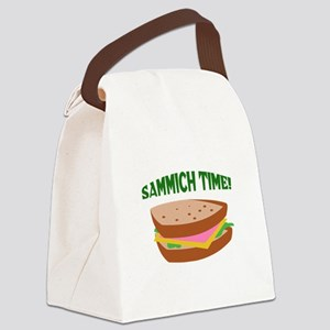 SAMMICH TIME Canvas Lunch Bag