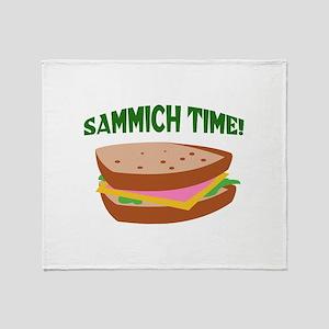 SAMMICH TIME Throw Blanket
