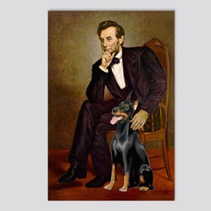 Lincoln's Doberman Postcards (Package of 8)