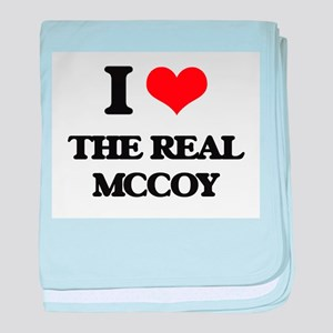 I Love The Real Mccoy baby blanket
