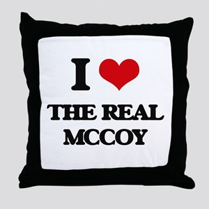 I Love The Real Mccoy Throw Pillow