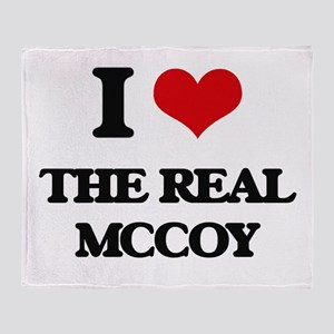 I Love The Real Mccoy Throw Blanket