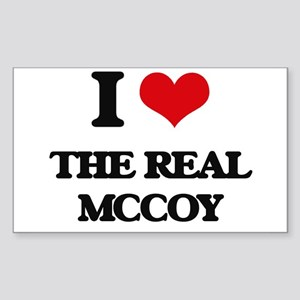 I Love The Real Mccoy Sticker