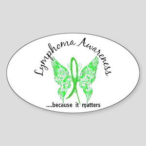 Lymphoma Butterfly 6.1 Sticker (Oval)