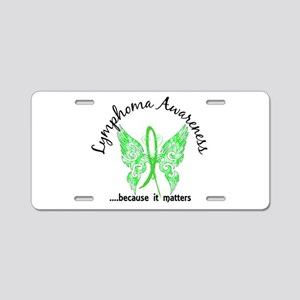 Lymphoma Butterfly 6.1 Aluminum License Plate