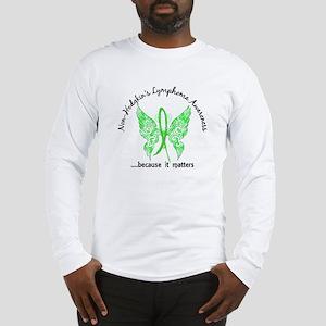 NH Lymphoma Butterfly 6.1 Long Sleeve T-Shirt