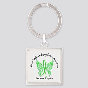 NH Lymphoma Butterfly 6.1 Square Keychain