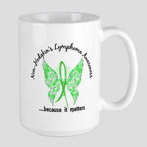 NH Lymphoma Butterfly 6.1 Large Mug