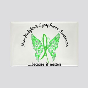 NH Lymphoma Butterfly 6.1 Rectangle Magnet