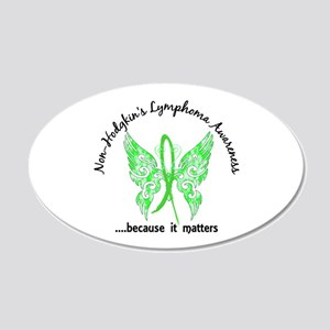 NH Lymphoma Butterfly 6.1 20x12 Oval Wall Decal