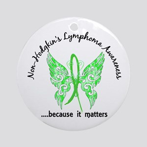 NH Lymphoma Butterfly 6.1 Ornament (Round)