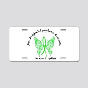 NH Lymphoma Butterfly 6.1 Aluminum License Plate