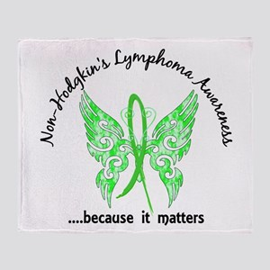 NH Lymphoma Butterfly 6.1 Throw Blanket