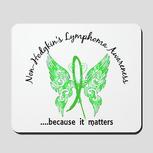 NH Lymphoma Butterfly 6.1 Mousepad