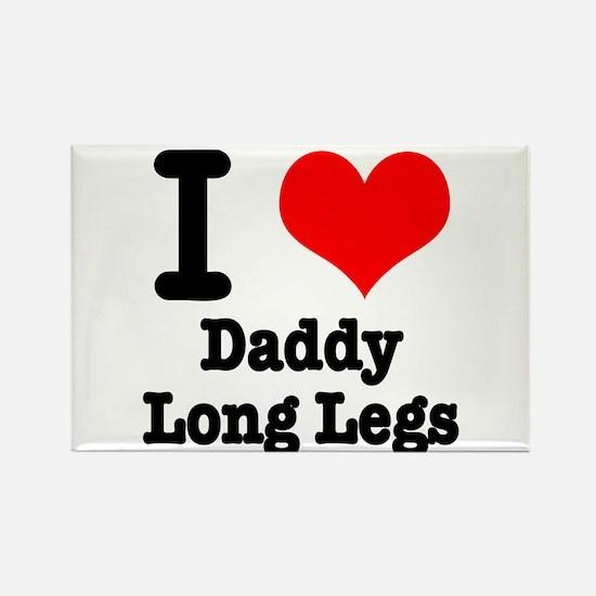 I Heart (Love) Daddy Long Legs Rectangle Magnet