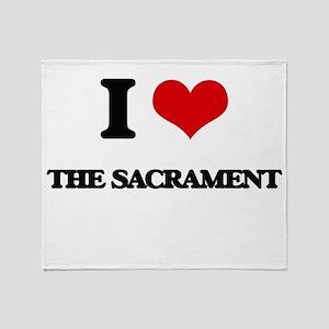 I Love The Sacrament Throw Blanket