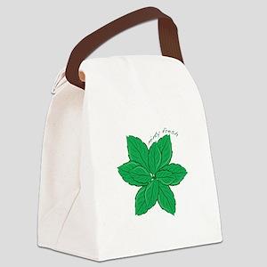 Minty Fresh Canvas Lunch Bag