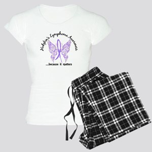 Hodgkin's Lymphoma Butterfl Women's Light Pajamas