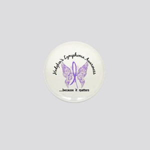 Hodgkin's Lymphoma Butterfly 6.1 Mini Button