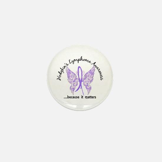Hodgkin's Lymphoma Butterfly 6.1 Mini Button