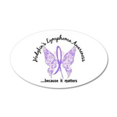 Hodgkin's Lymphoma Butterfly Wall Decal