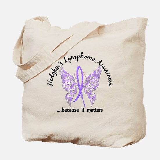Hodgkin's Lymphoma Butterfly 6.1 Tote Bag