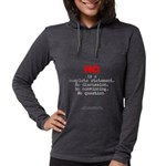 NoIsComplete-lgRed g- Womens Hooded Shirt