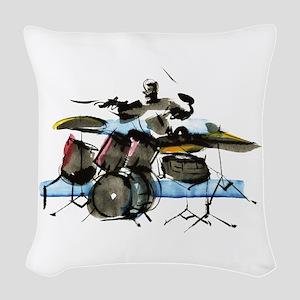 Drummer Woven Throw Pillow